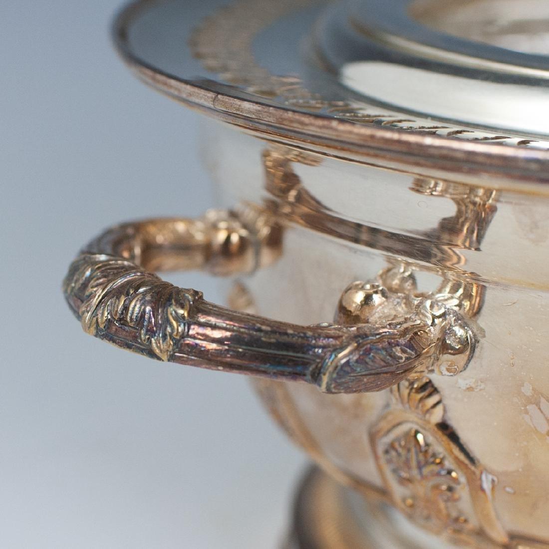 Antique Silver Plated Caviar Server - 4