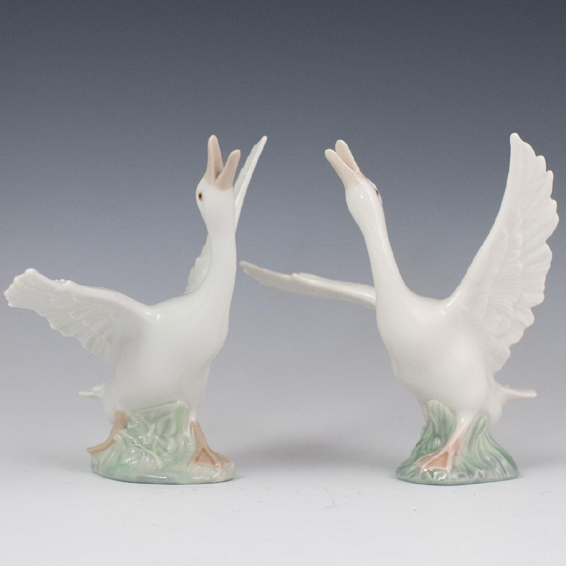 Lladro Porcelain Geese Figurines
