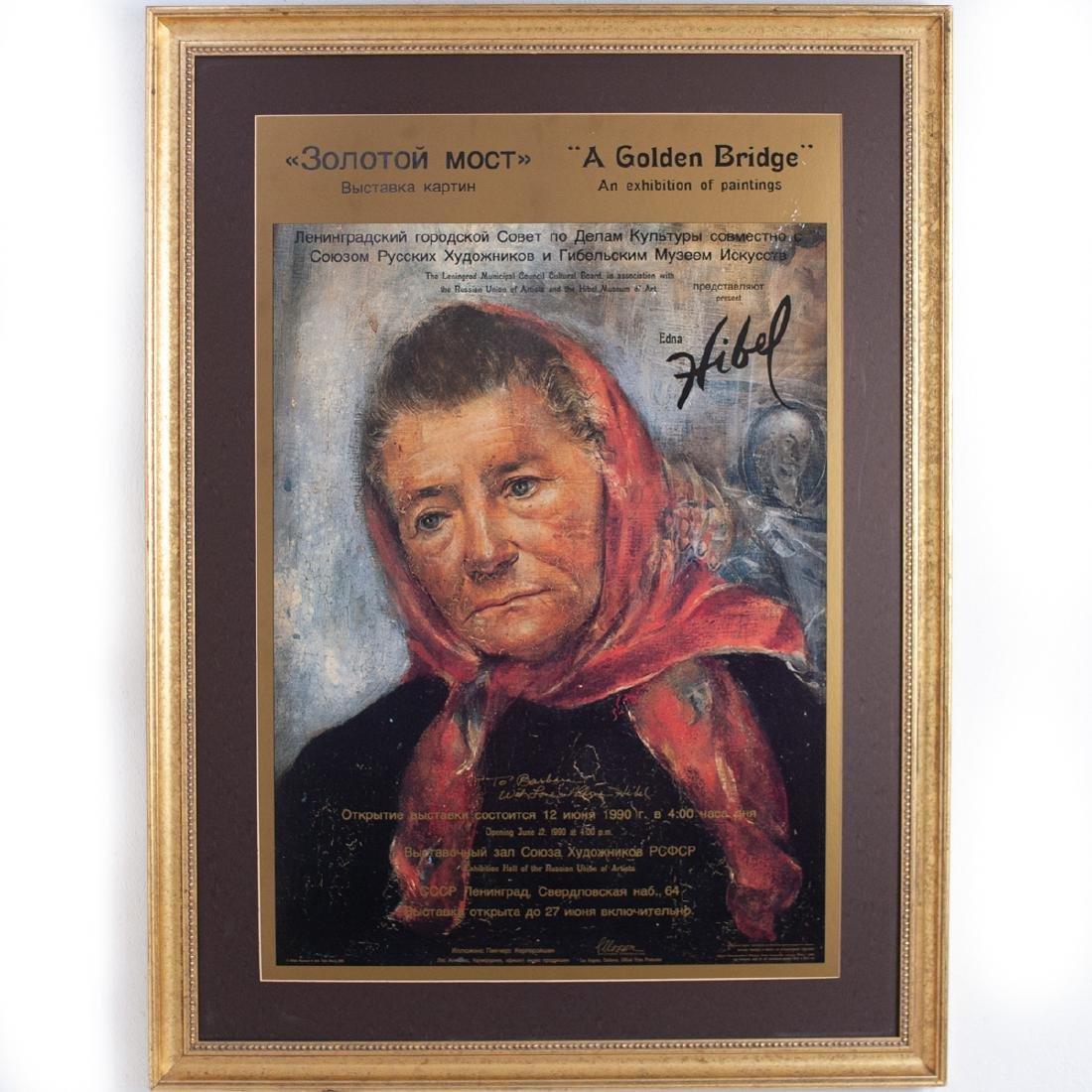 """Edna Hibel 1990 """"A Golden Bridge"""" Poster"""