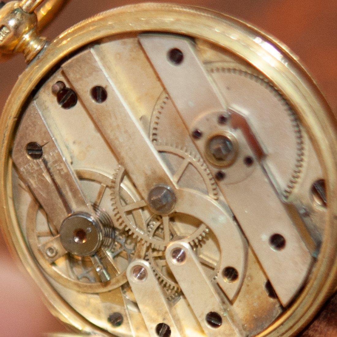 Vacheron 18kt Gold Enameled Pocket Watch - 10