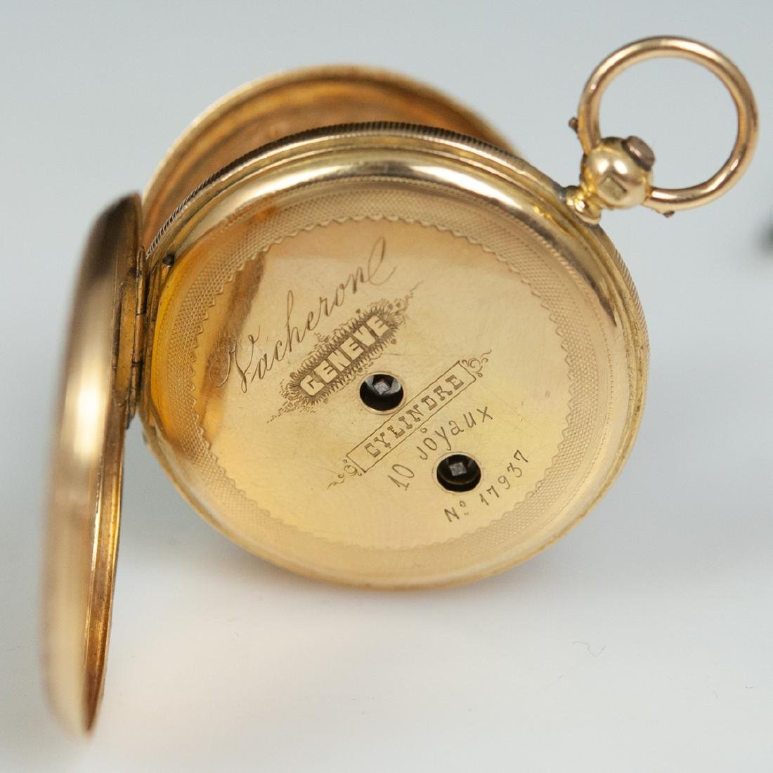 Vacheron 18kt Gold Enameled Pocket Watch - 7