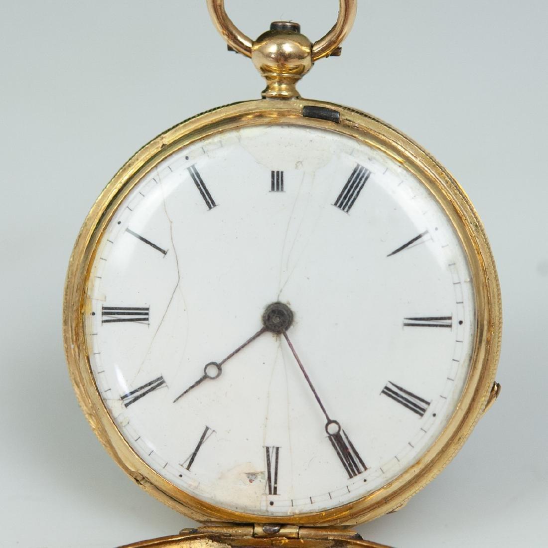 Vacheron 18kt Gold Enameled Pocket Watch - 8