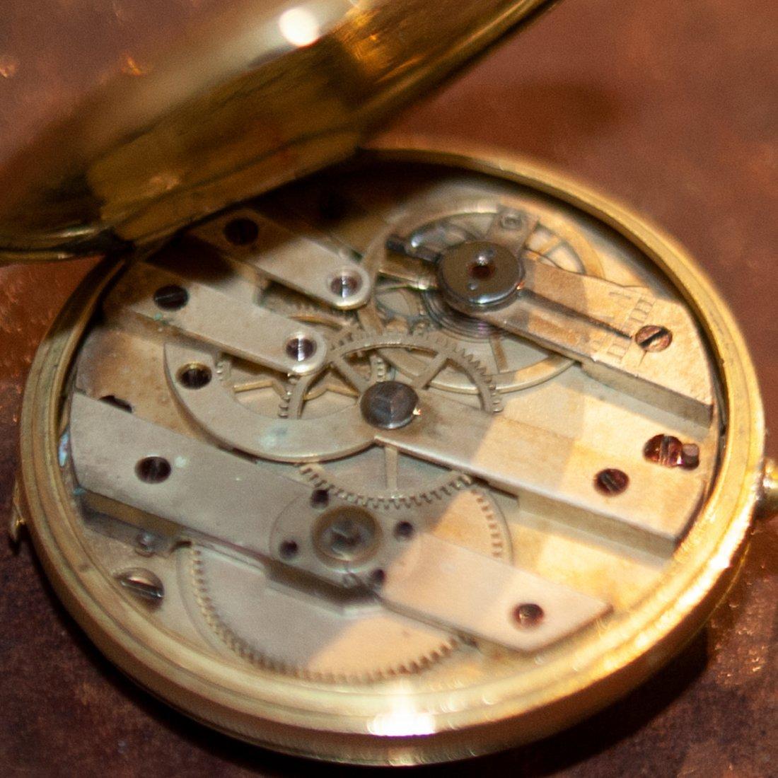 Vacheron 18kt Gold Enameled Pocket Watch - 9
