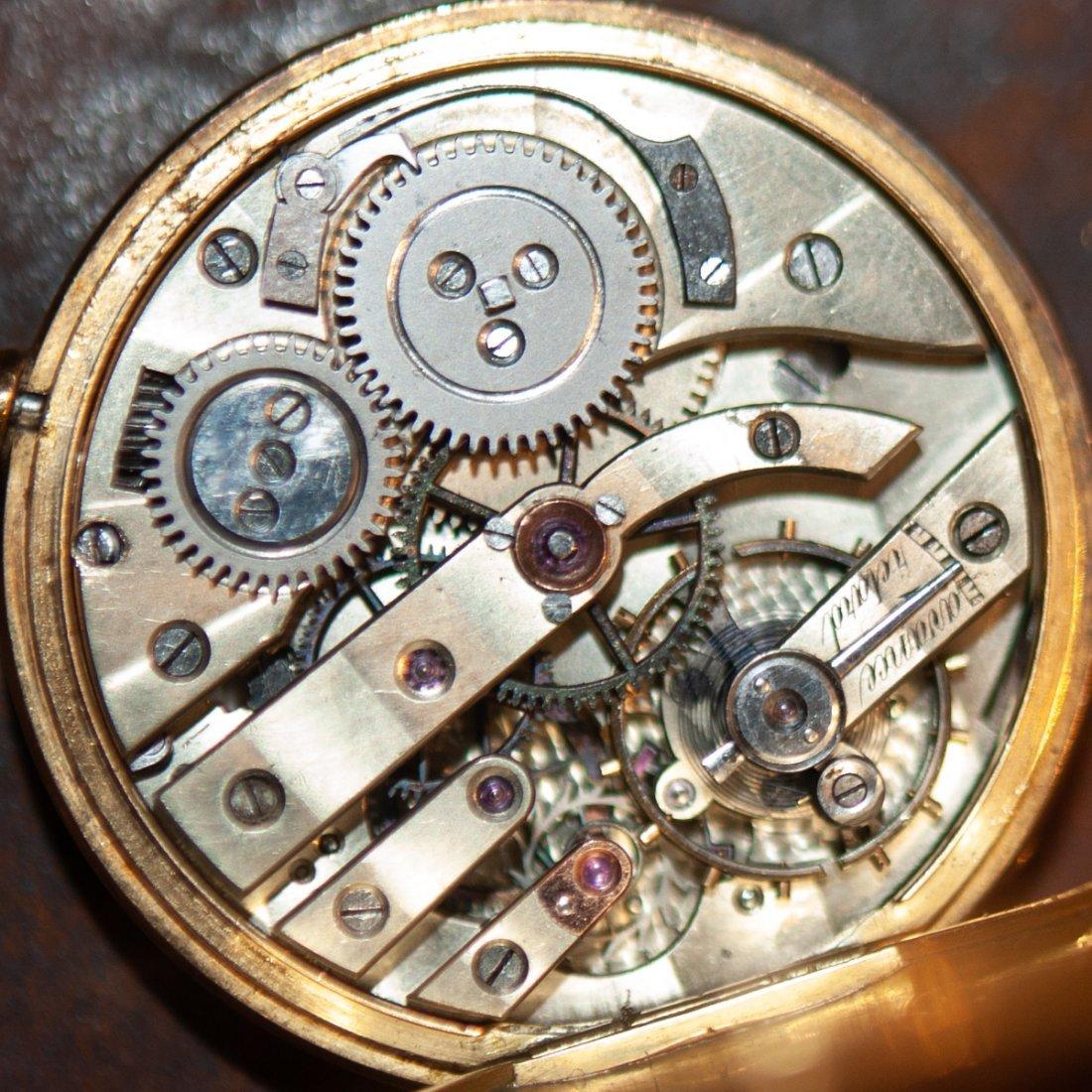 Swiss 18kt Gold Enameled Pocket Watch - 8