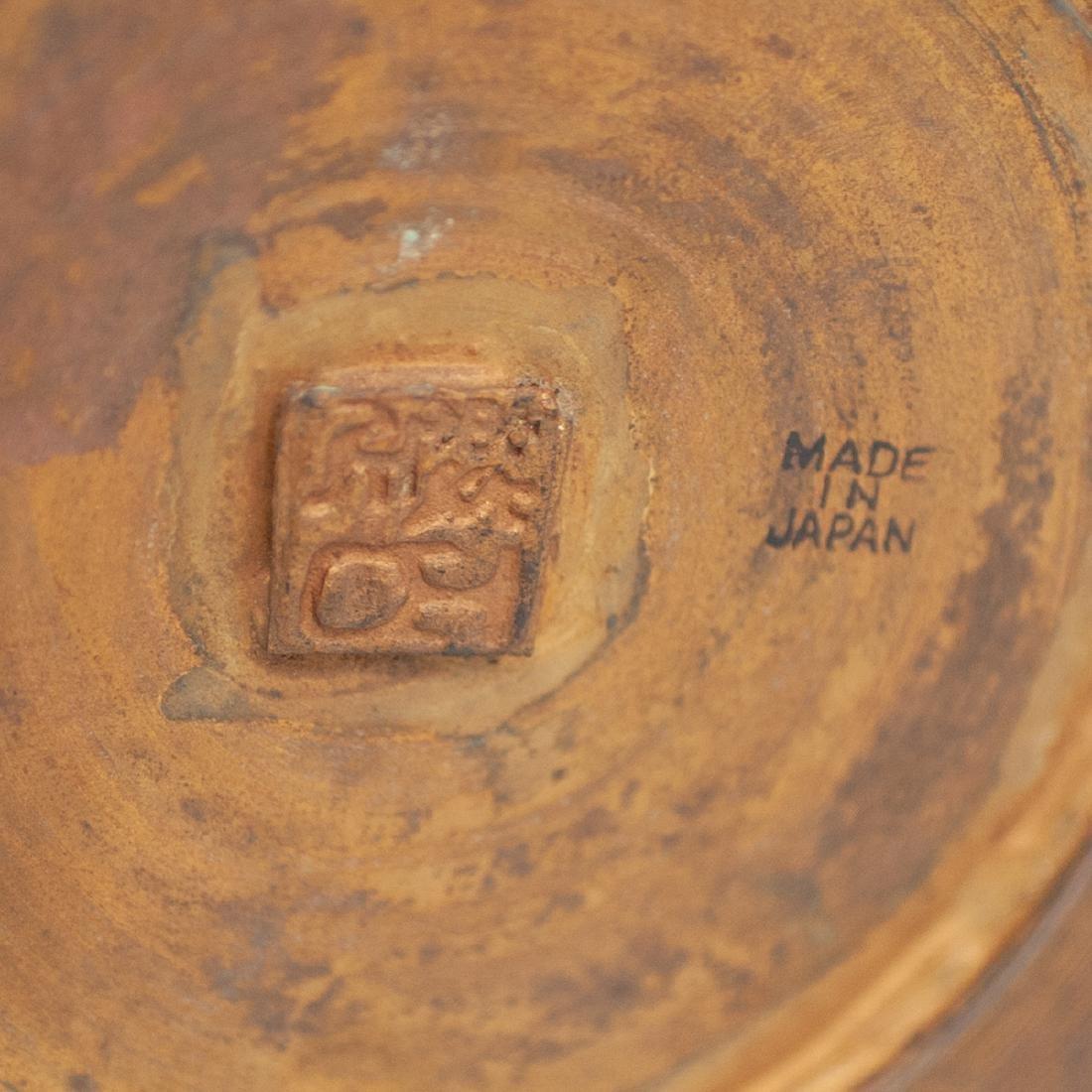 Japanese Enameled Cloisonne Bronze Vase - 3