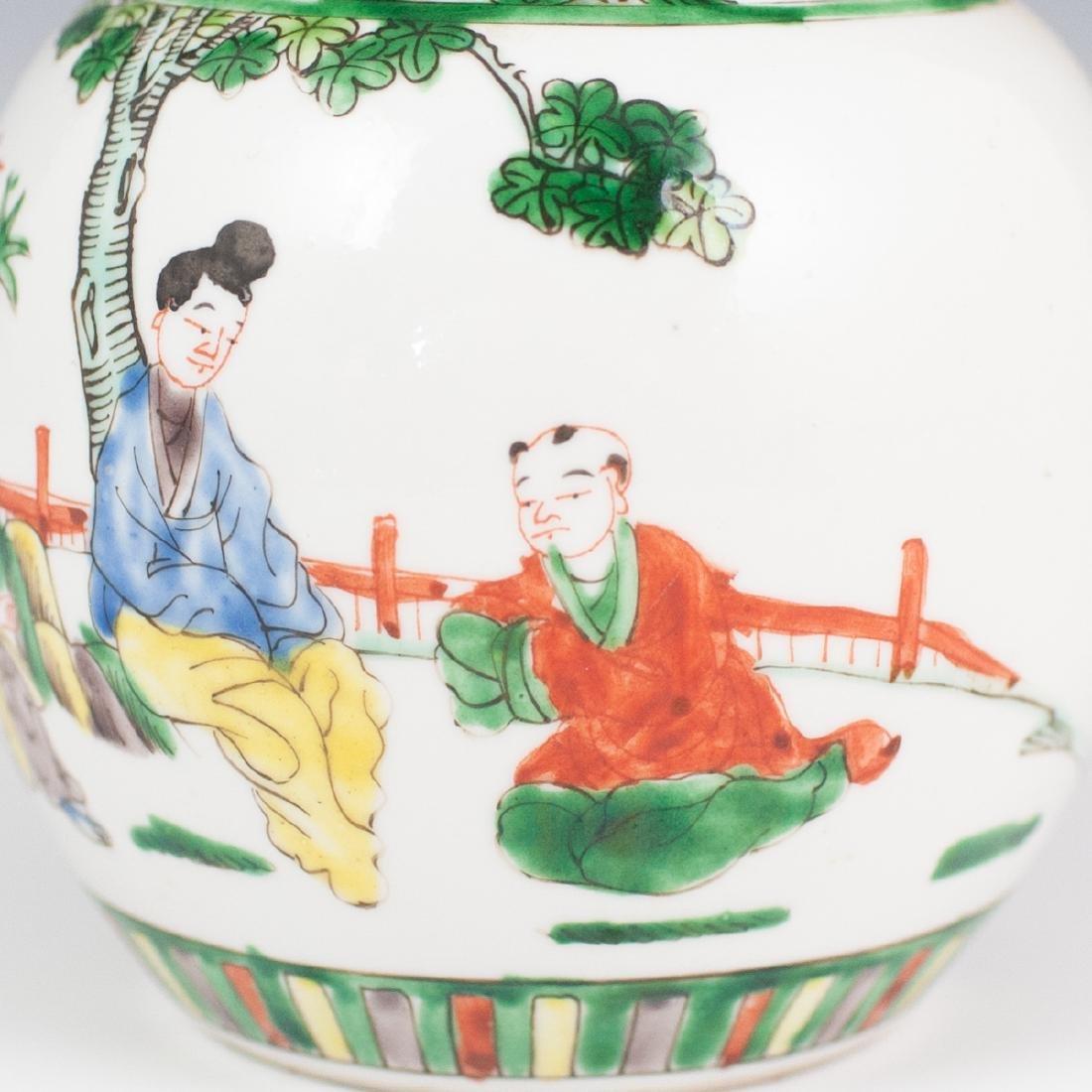 Chinese Porcelain Famille Verte Ginger Jar - 2