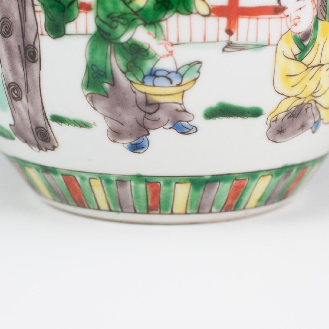 Chinese Porcelain Famille Verte Ginger Jar - 6