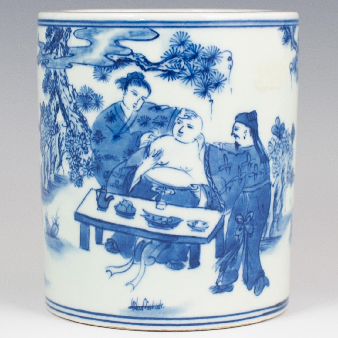 Chinese Porcelain Blue & White Brush Pot