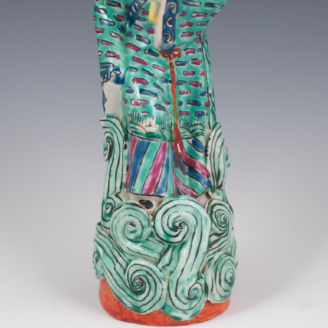 Chinese Republic Famille Verte Porcelain Figurines - 5