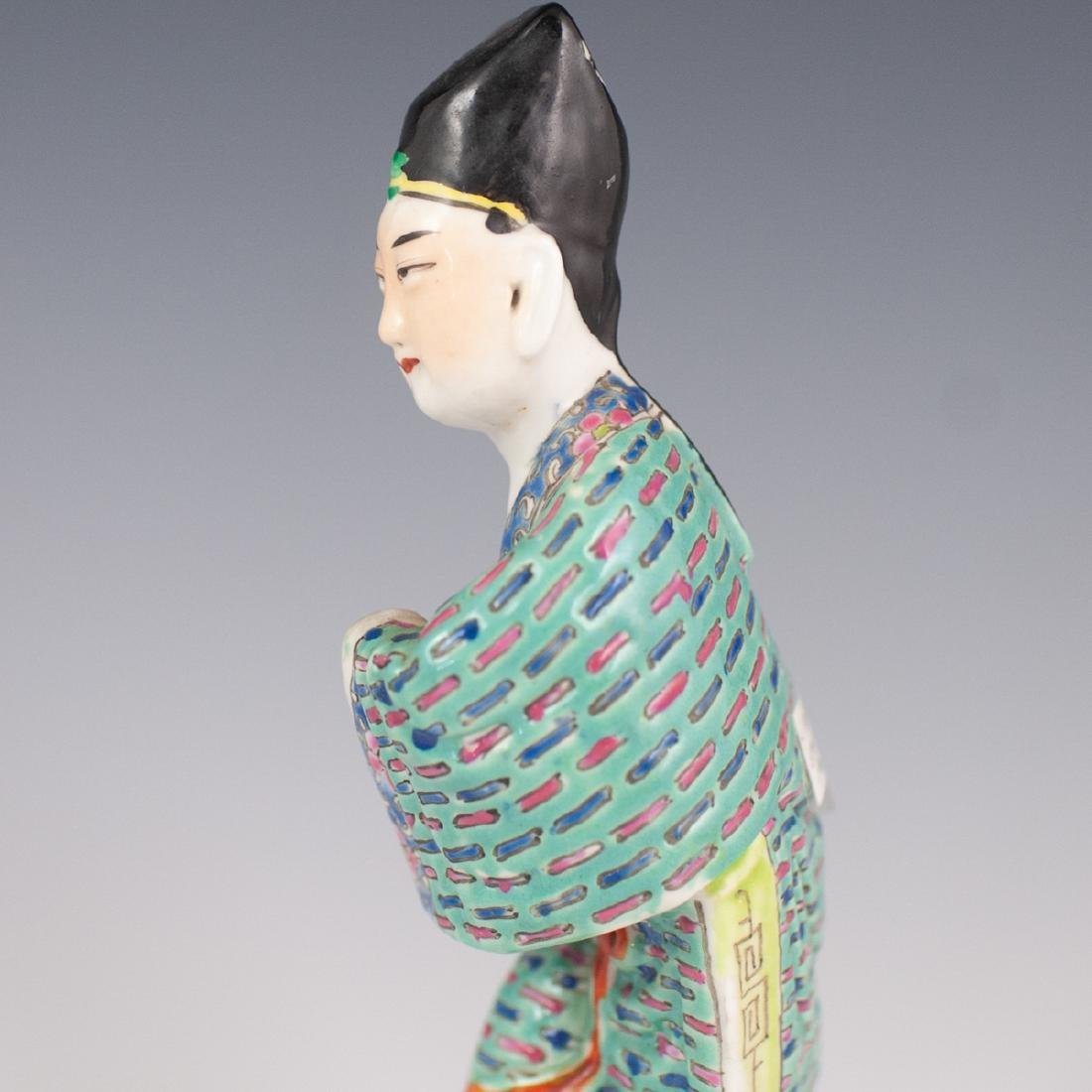 Chinese Republic Famille Verte Porcelain Figurines - 6