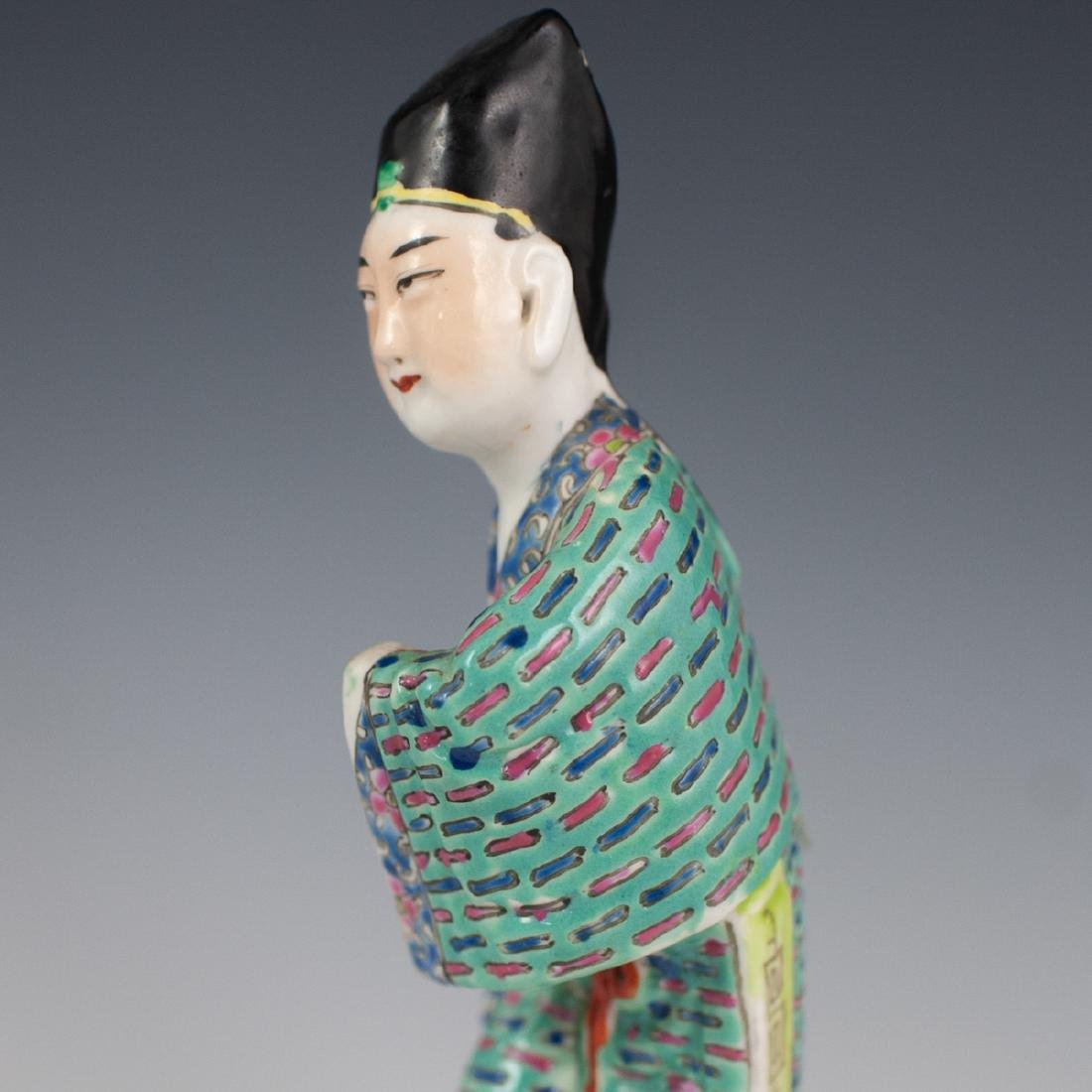 Chinese Republic Famille Verte Porcelain Figurines - 8