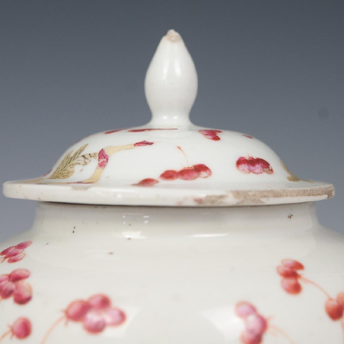 Antique Chinese Enameled Porcelain Ginger Jar - 2