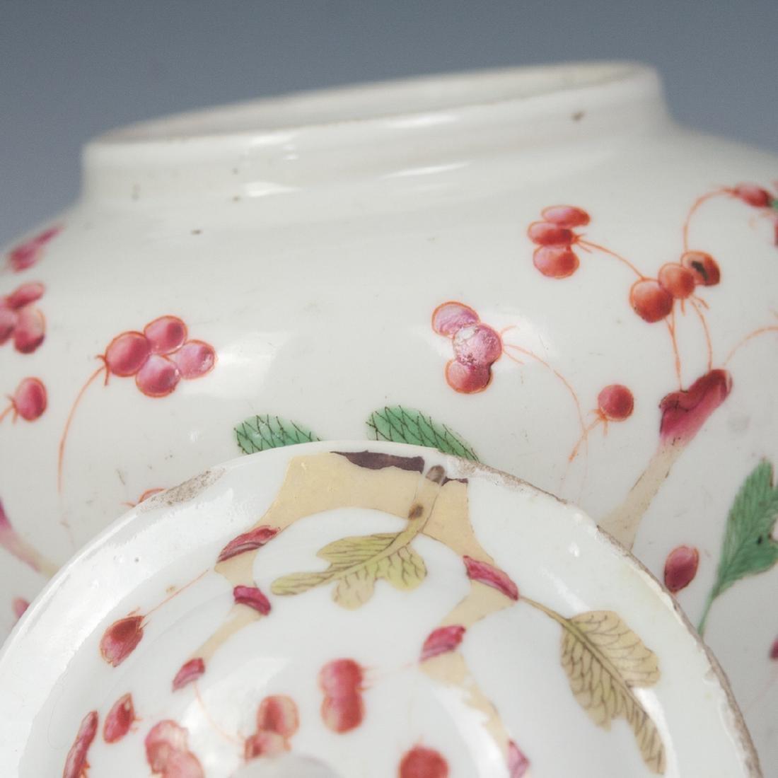 Antique Chinese Enameled Porcelain Ginger Jar - 3