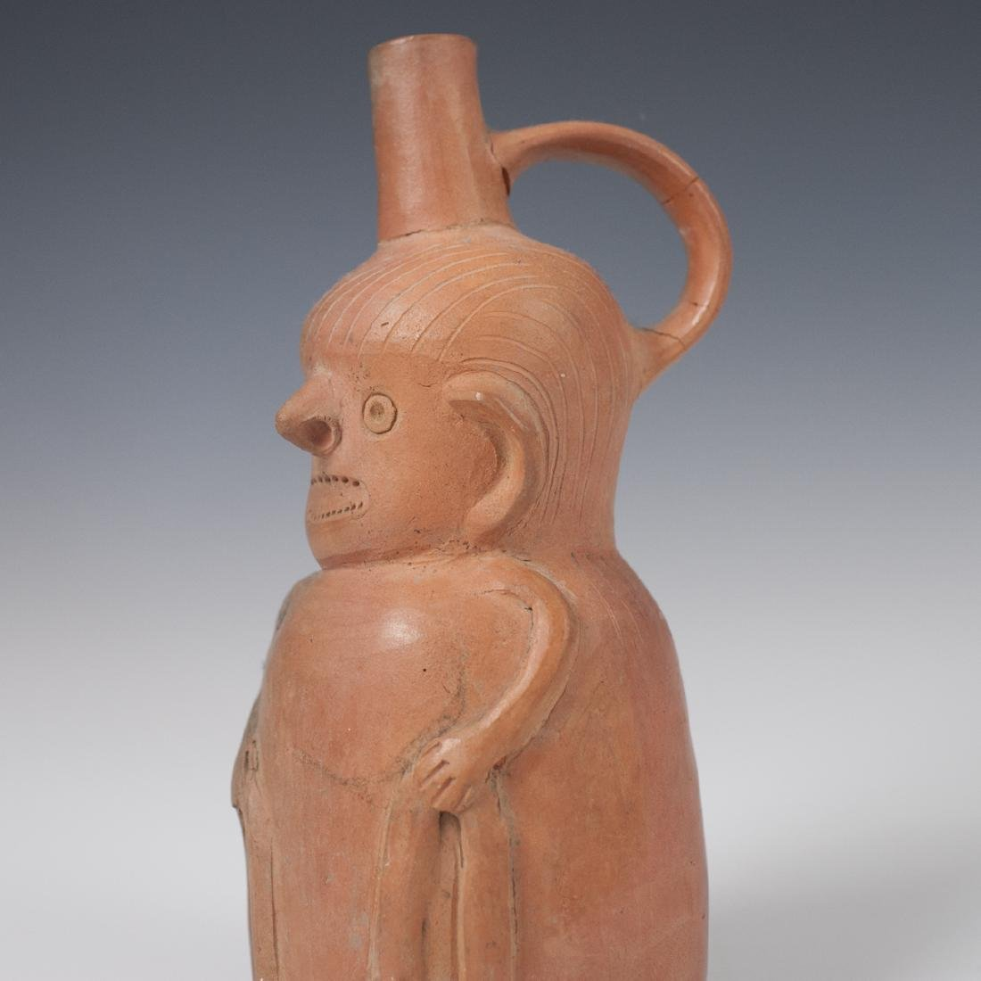 Pre-Columbian Figural Stirrup Vessel - 3
