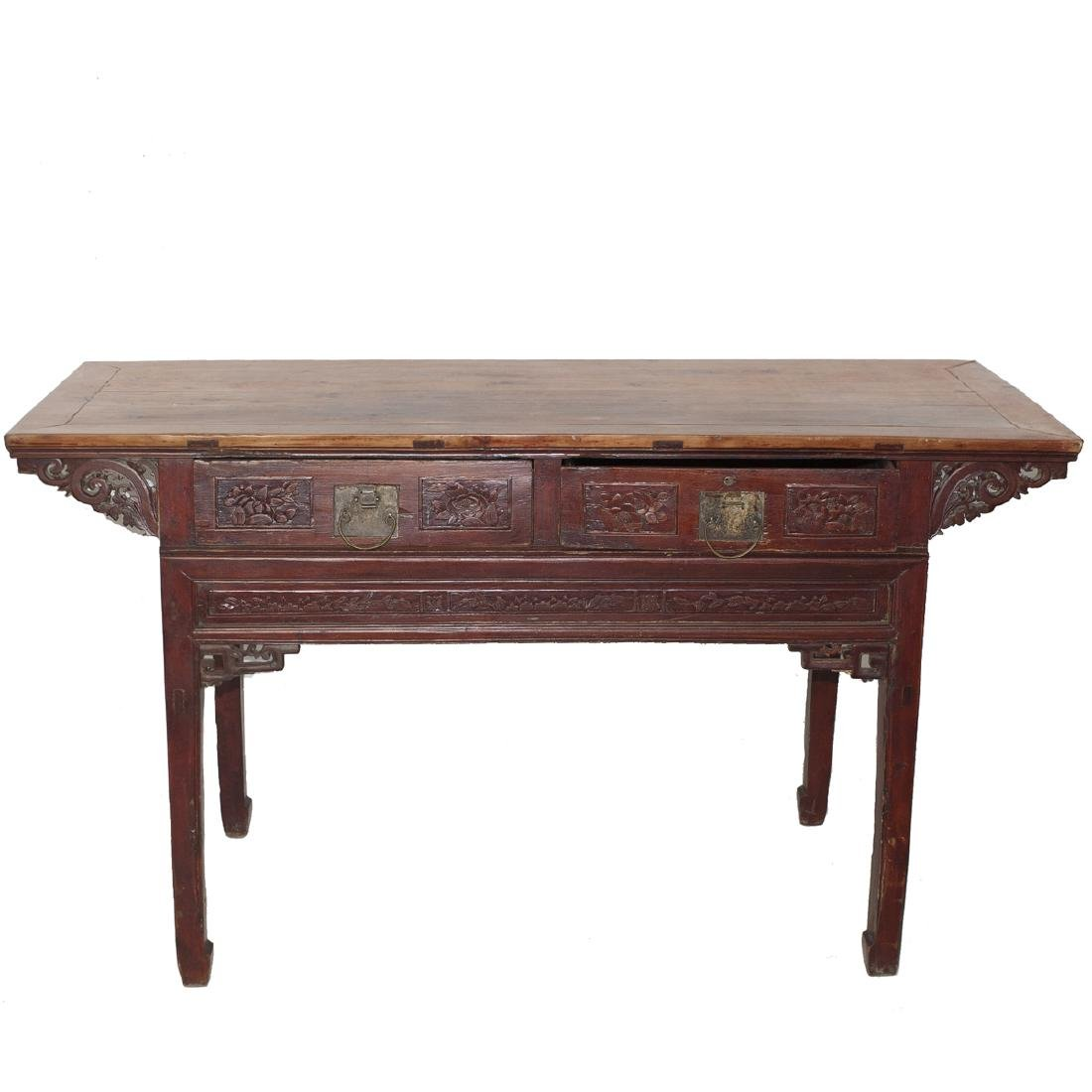 Antique Chinese Wooden Altar Table