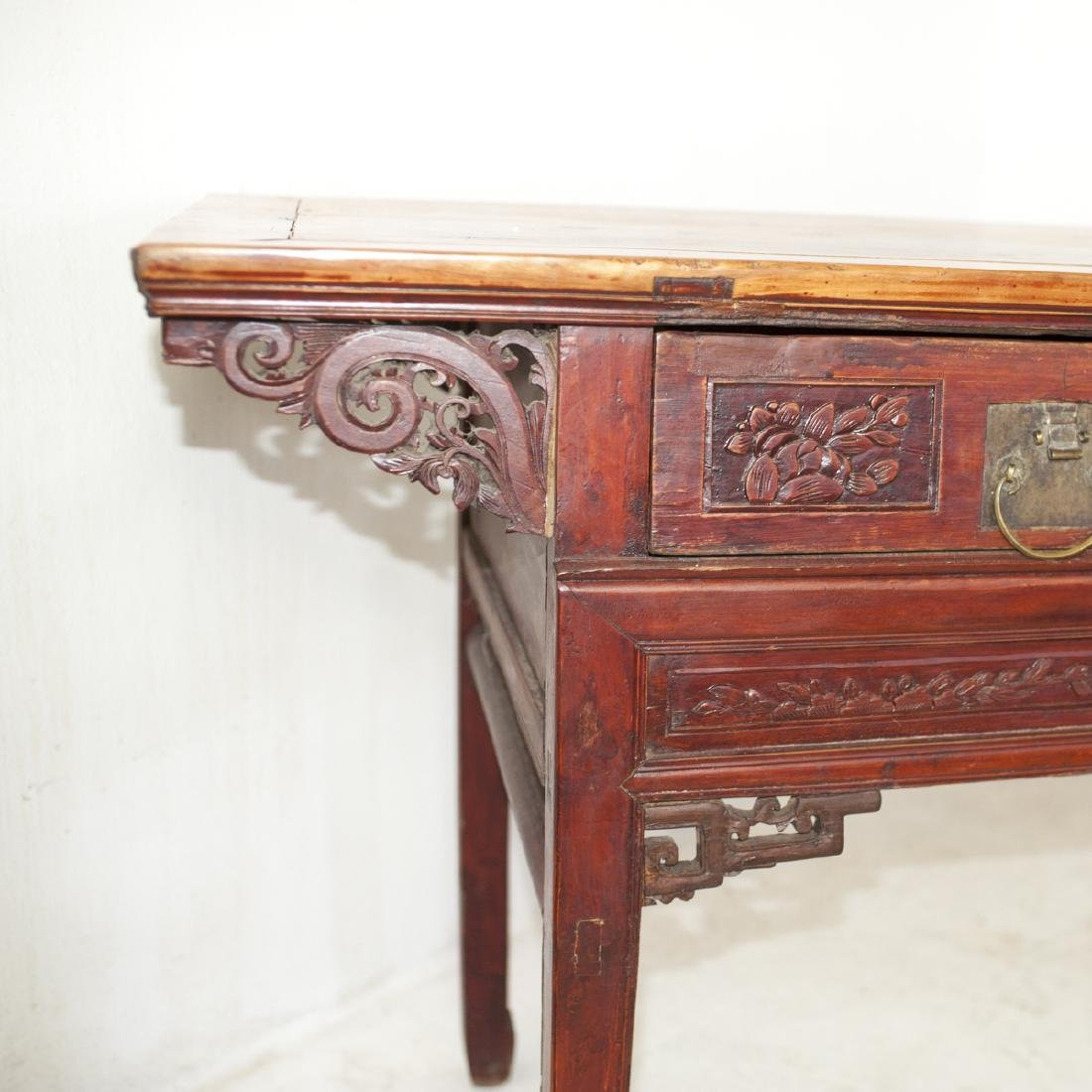 Antique Chinese Wooden Altar Table - 4