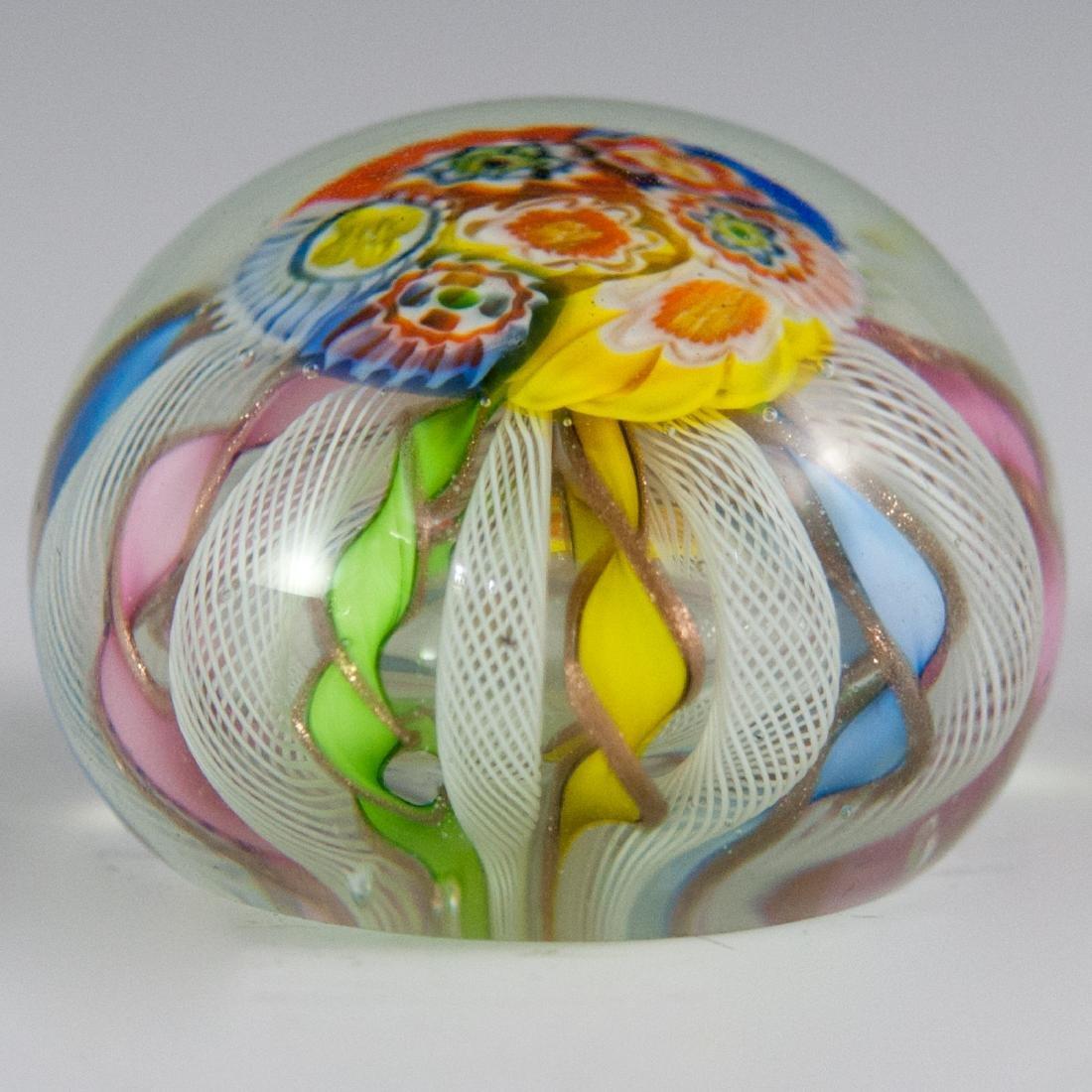 Murano Glass Millefiori Paperweight - 2