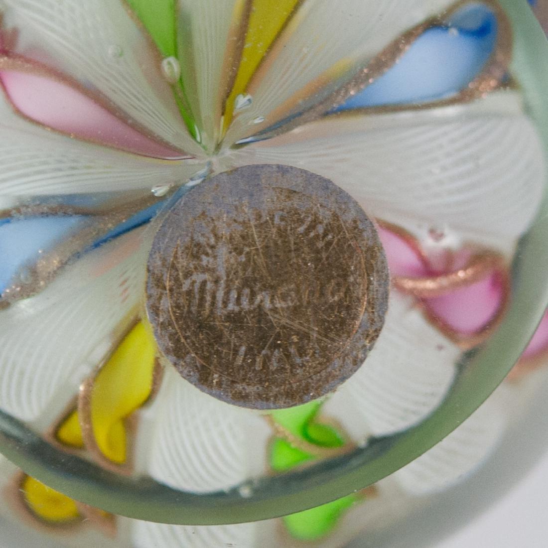 Murano Glass Millefiori Paperweight - 3