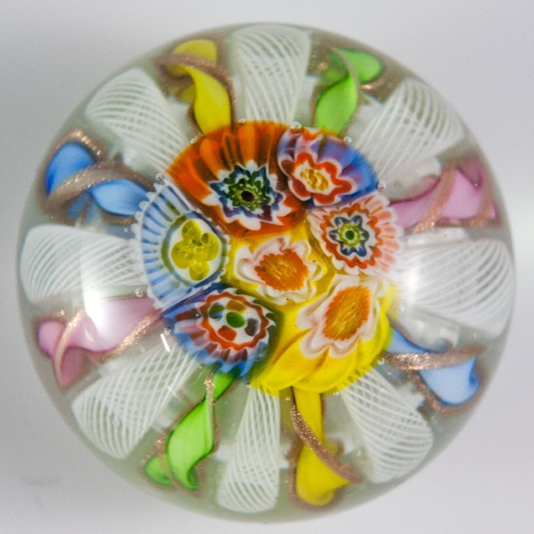 Murano Glass Millefiori Paperweight - 4