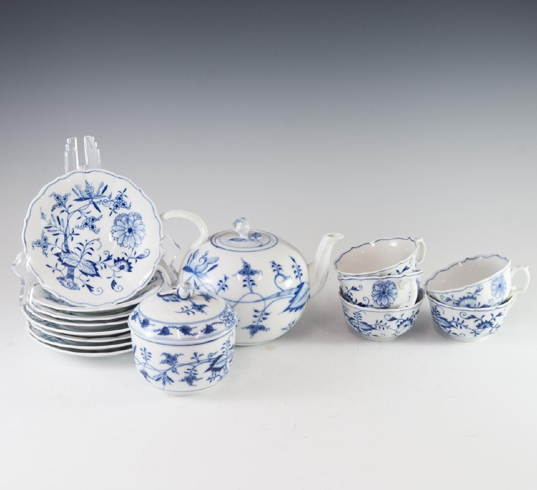 """Meissen """"Blue Onion"""" Porcelain Set"""