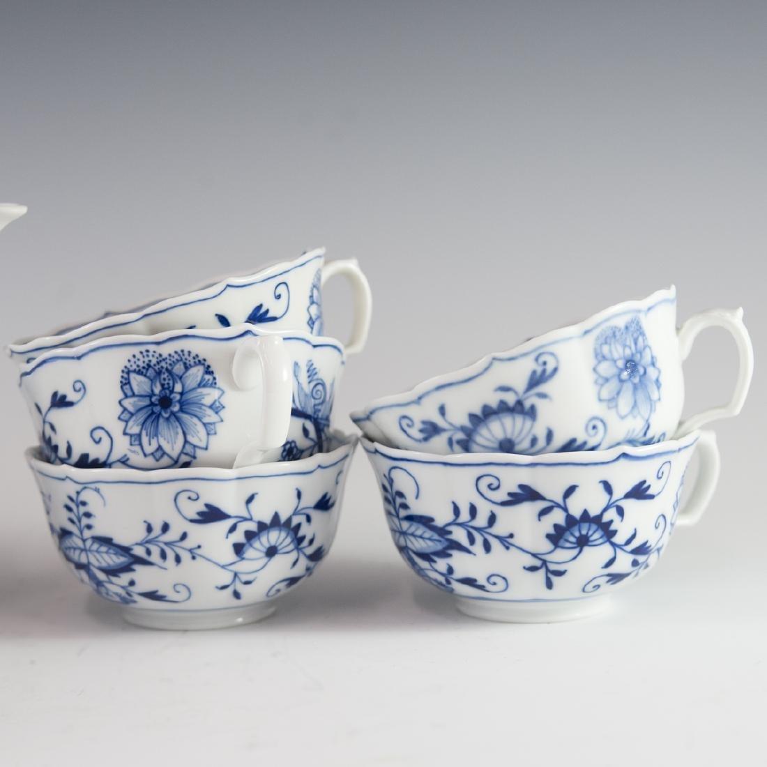 """Meissen """"Blue Onion"""" Porcelain Set - 5"""