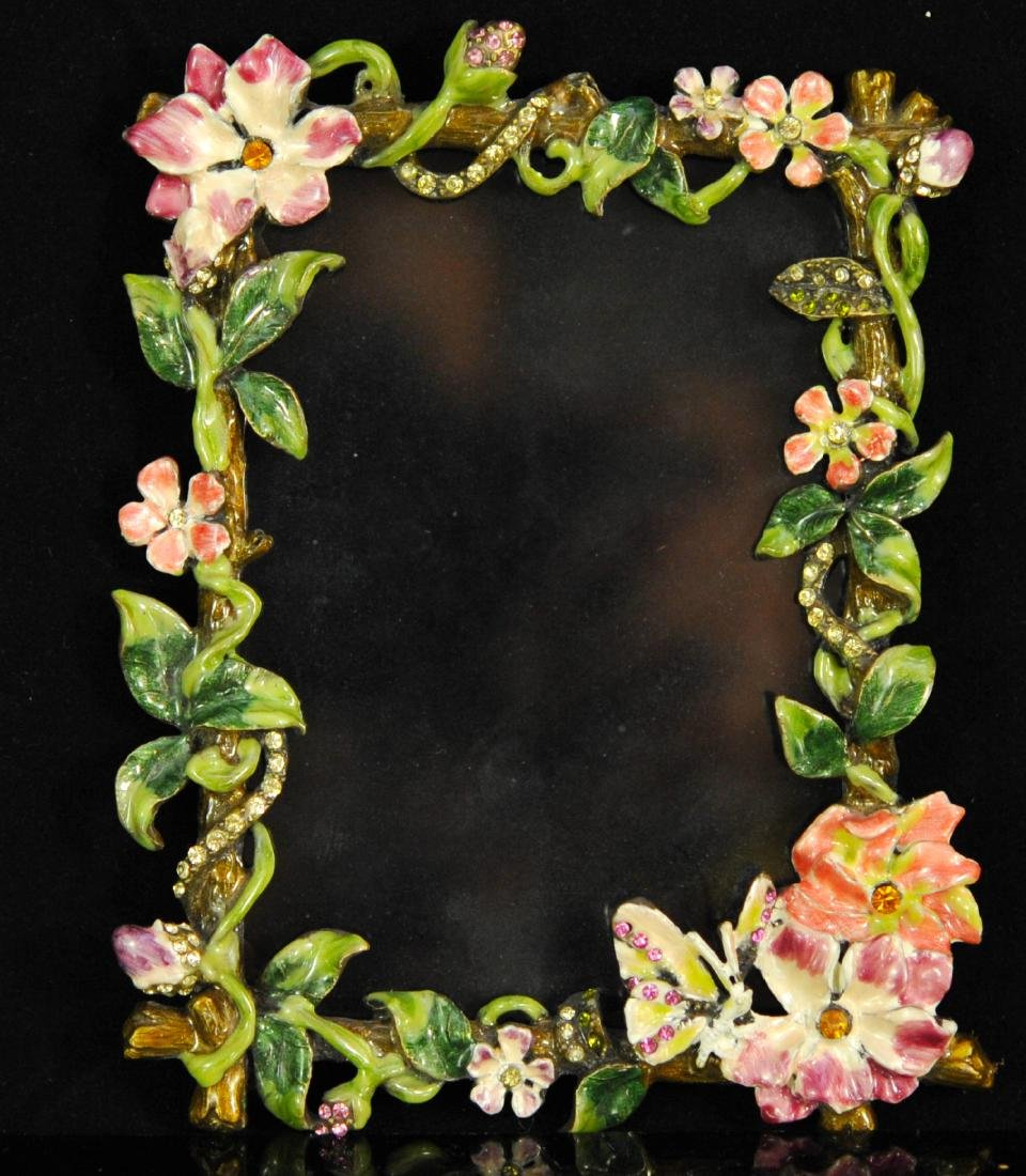 Jay Strongwater Style Enameled Picture Frame