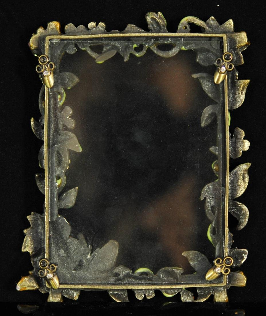 Jay Strongwater Style Enameled Picture Frame - 4