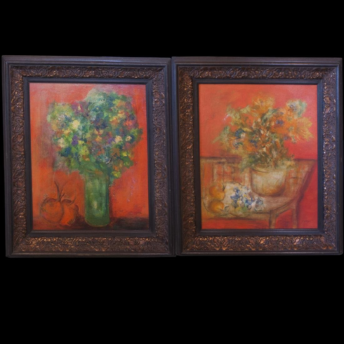 """Still Life Oil On Canvas Paintings Signed:""""Phillips"""""""