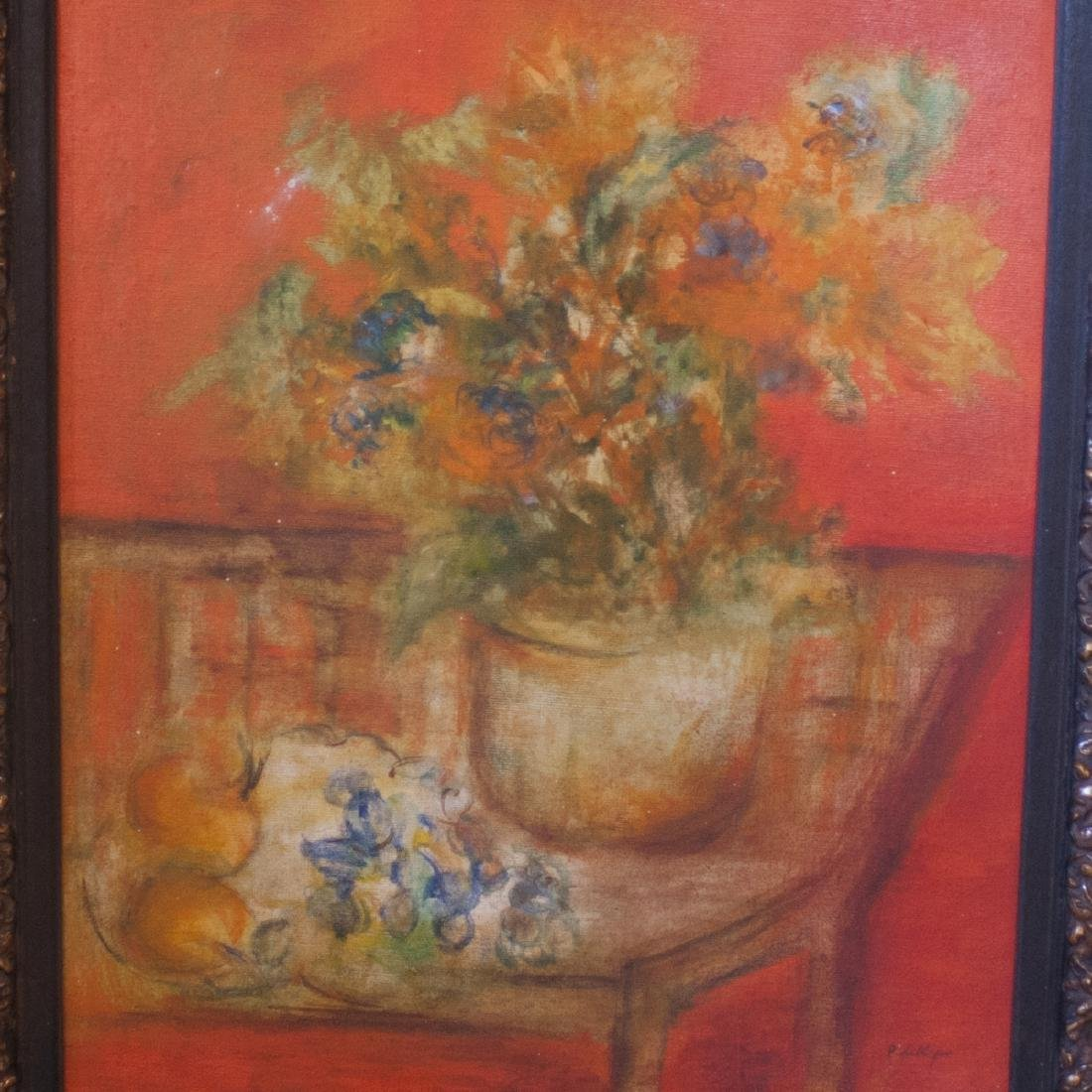 """Still Life Oil On Canvas Paintings Signed:""""Phillips"""" - 3"""