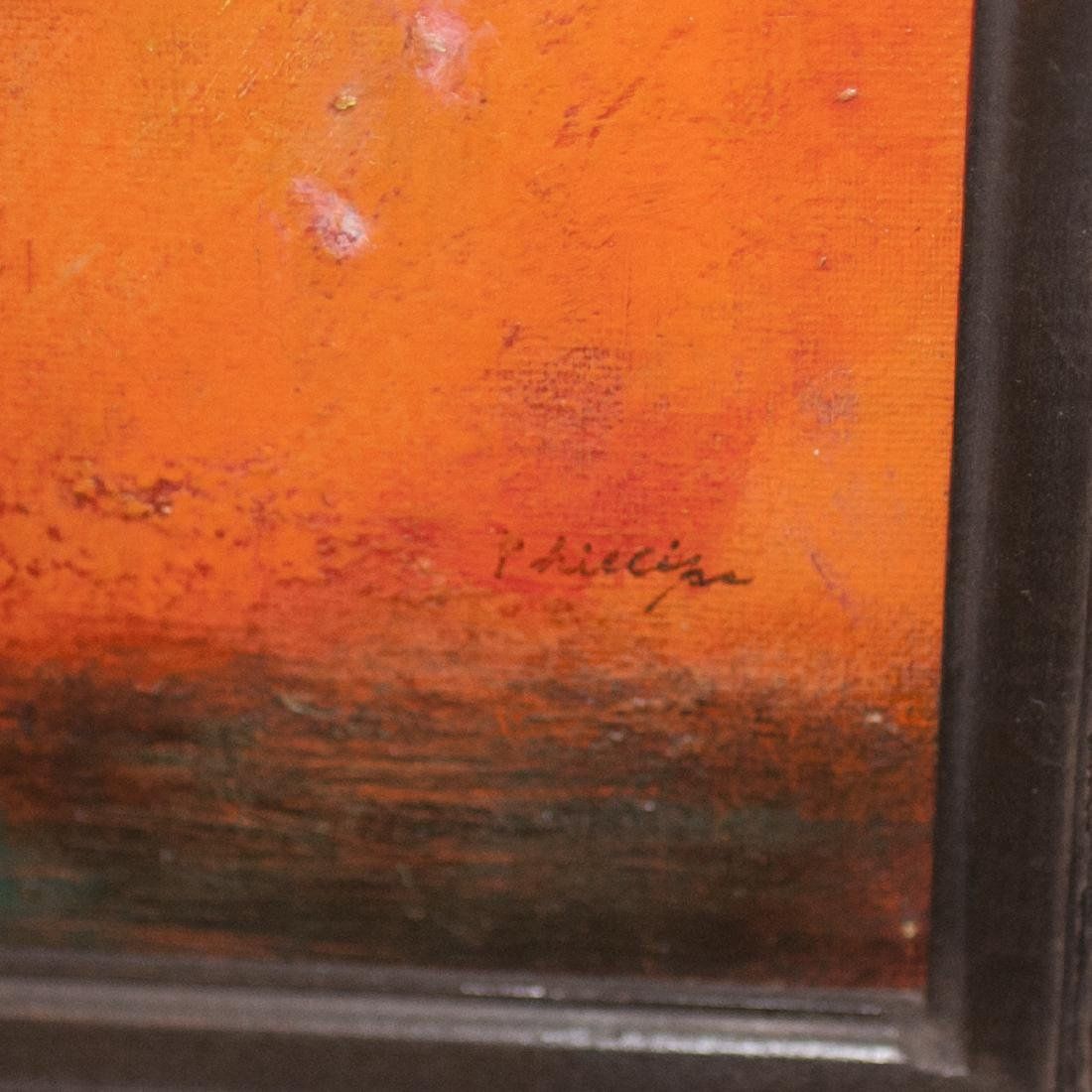 """Still Life Oil On Canvas Paintings Signed:""""Phillips"""" - 4"""