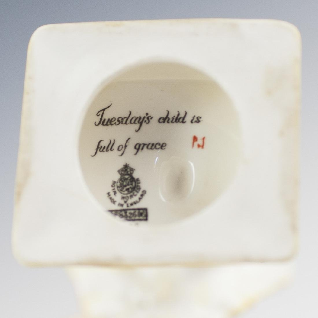 """Royal Worcester """"Tuesday's Child Is Full Of Grace"""" - 2"""