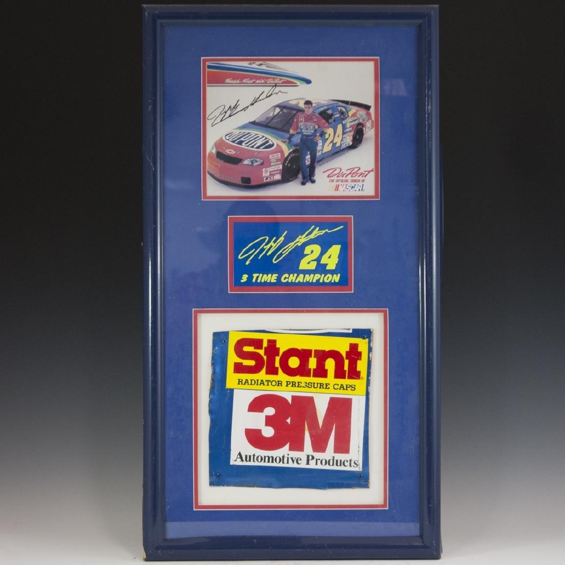 Framed Jeff Gordon Signed Memorabilia