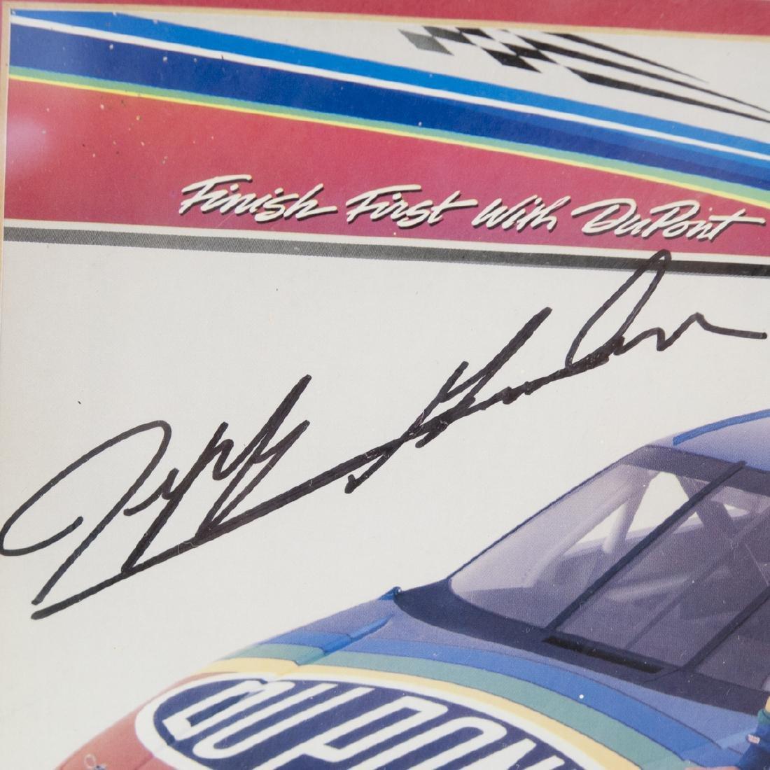 Framed Jeff Gordon Signed Memorabilia - 2