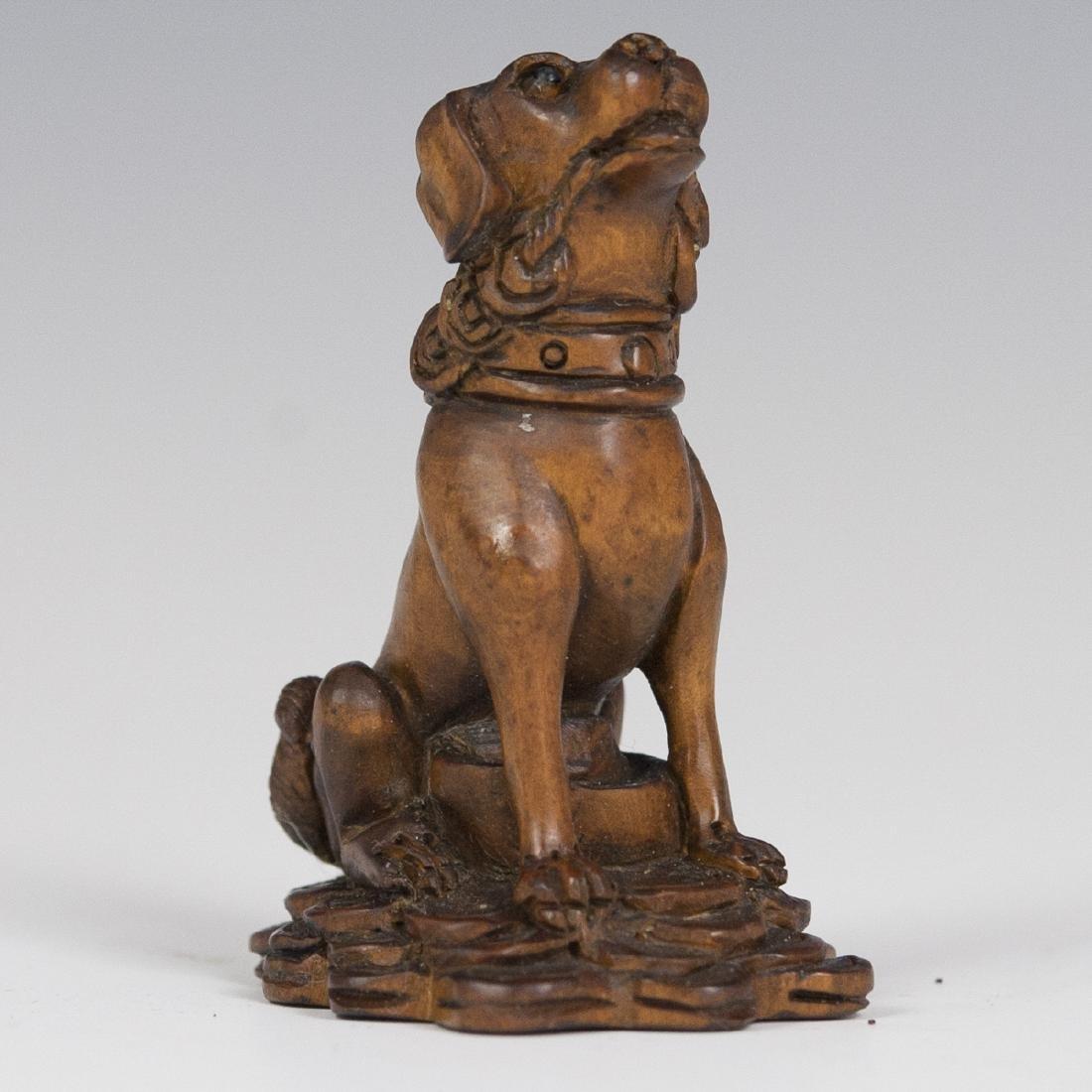 Carved Japanese Wooden Netsuke - 3
