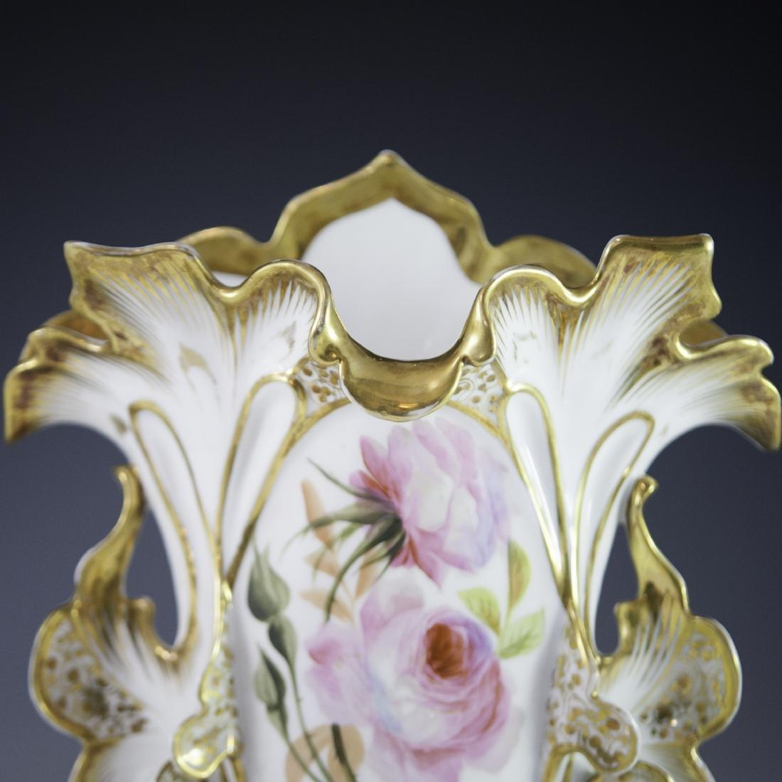 Old Paris Porcelain Vases - 4
