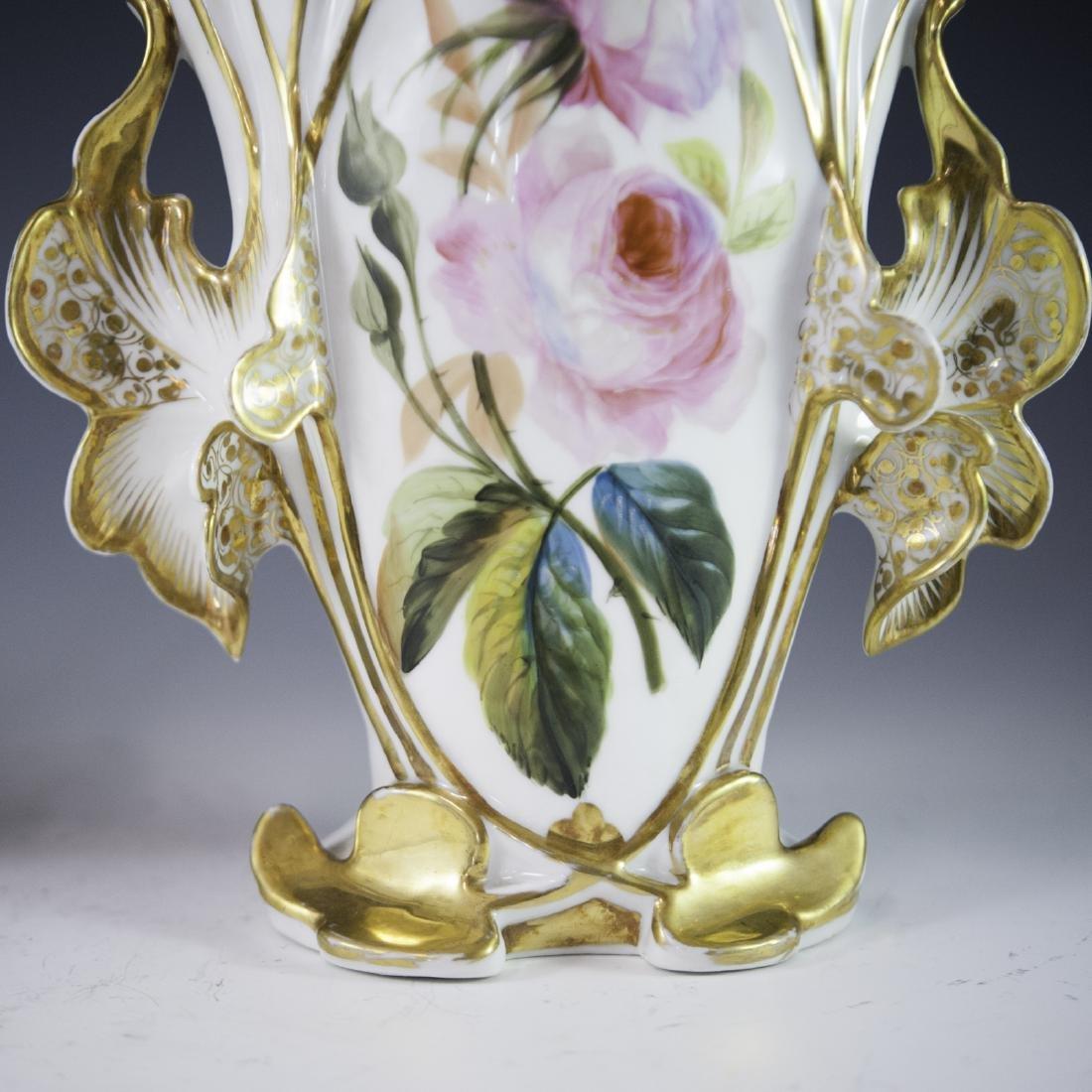 Old Paris Porcelain Vases - 5