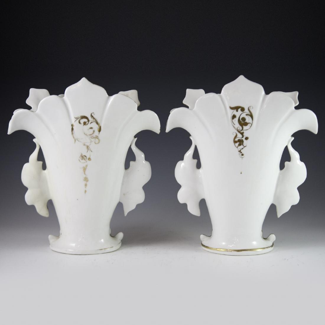 Old Paris Porcelain Vases - 6