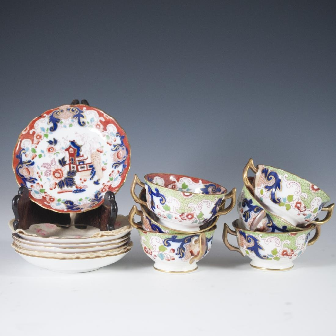 Derby Imari Porcelain Tea Set