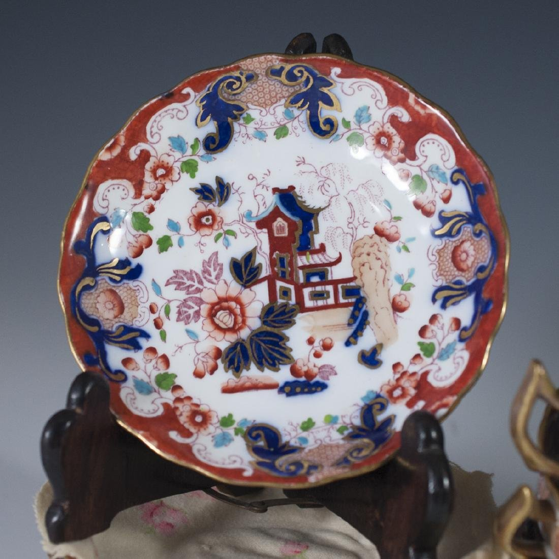 Derby Imari Porcelain Tea Set - 2