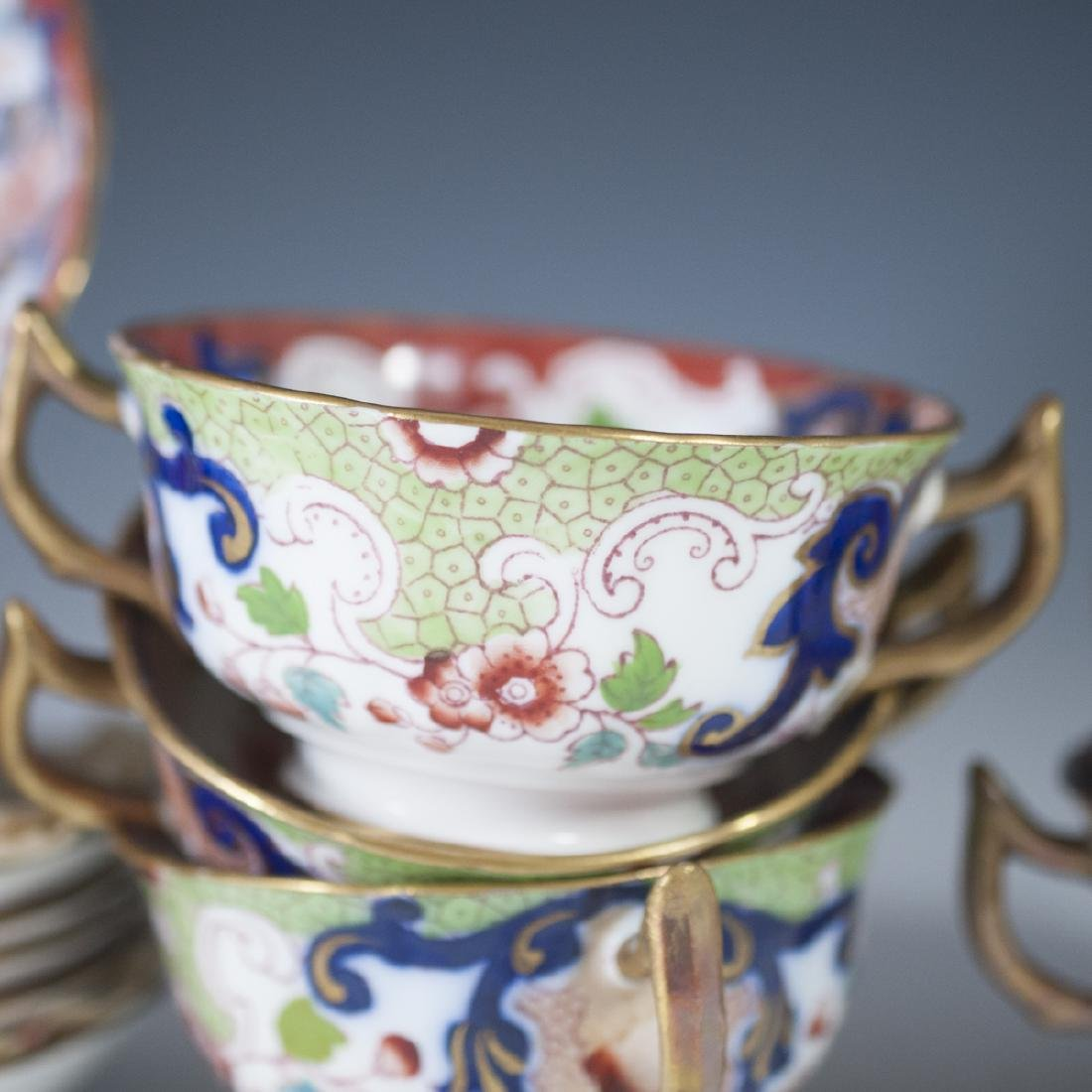 Derby Imari Porcelain Tea Set - 4