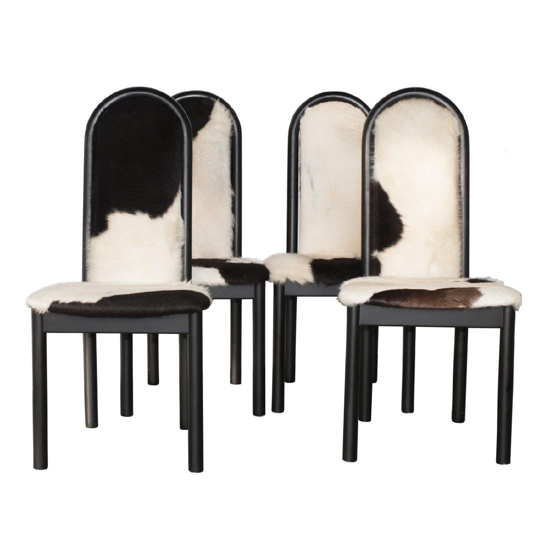 Vintage Italian Cowhide Dining Chairs