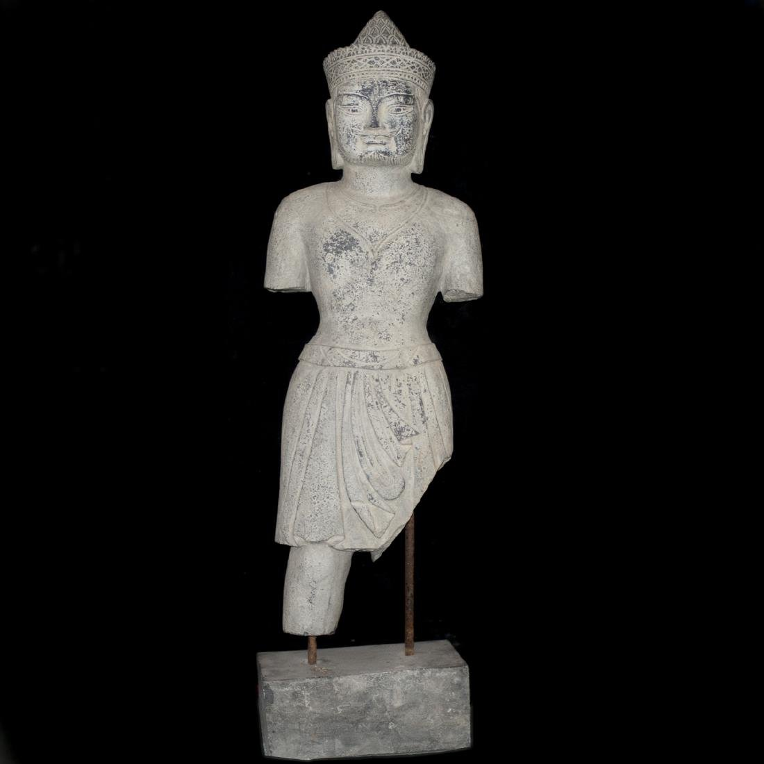 Southeast Asian Carved Stone Buddha