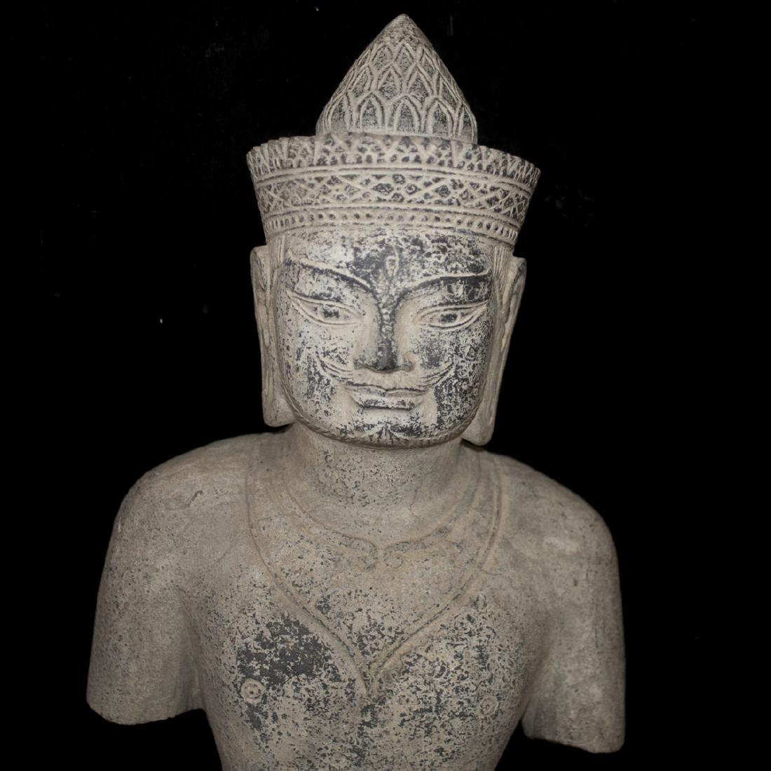 Southeast Asian Carved Stone Buddha - 2