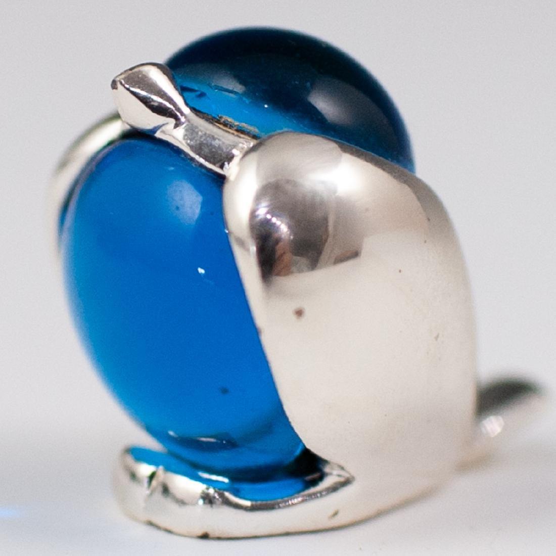 Christofle Silver & Glass Bird Figurine - 2