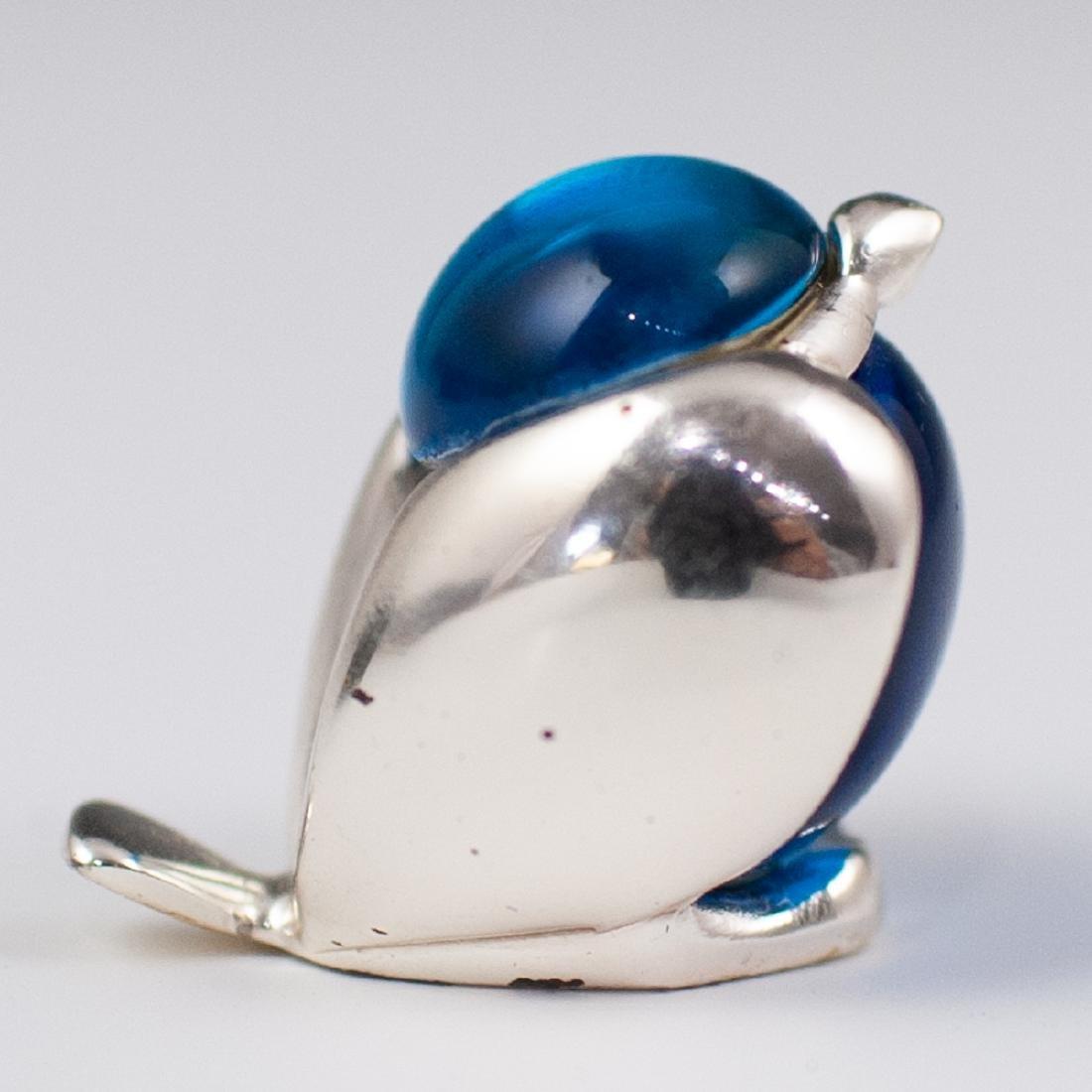 Christofle Silver & Glass Bird Figurine - 3
