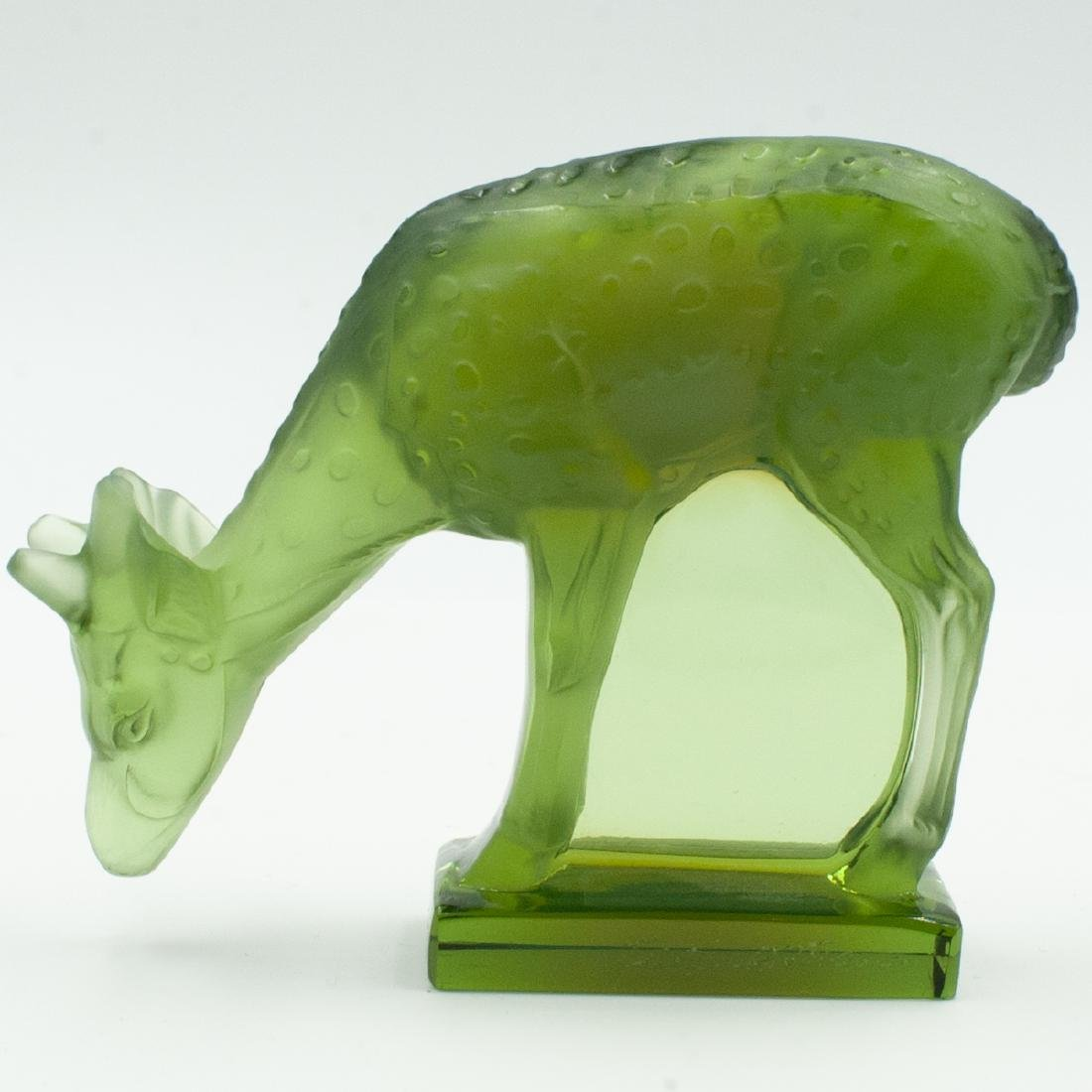 Lalique Colored Crystal Deer - 2