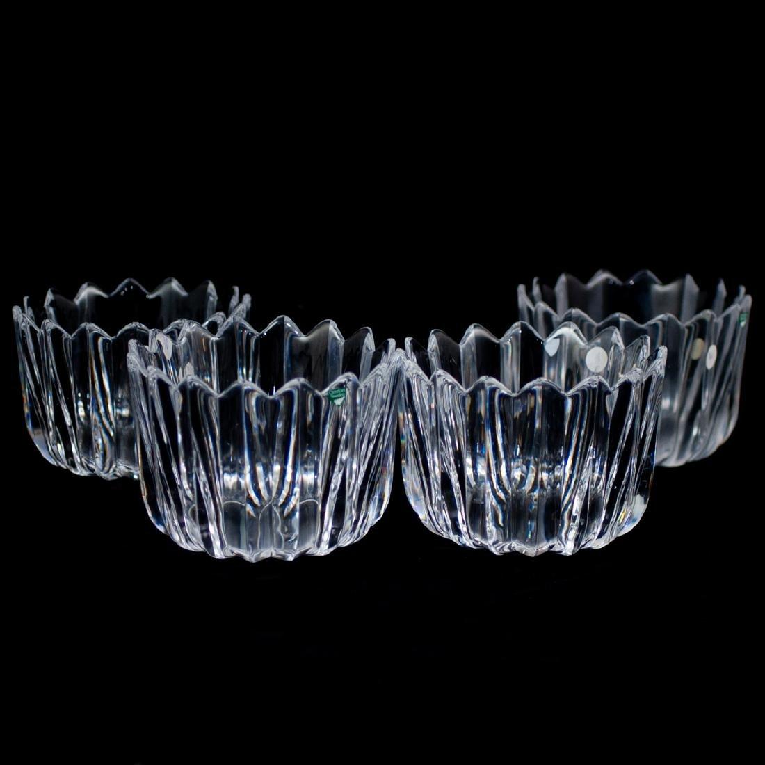 "(4 Pc) Orrefors Crystal ""Crown"" Bowls"