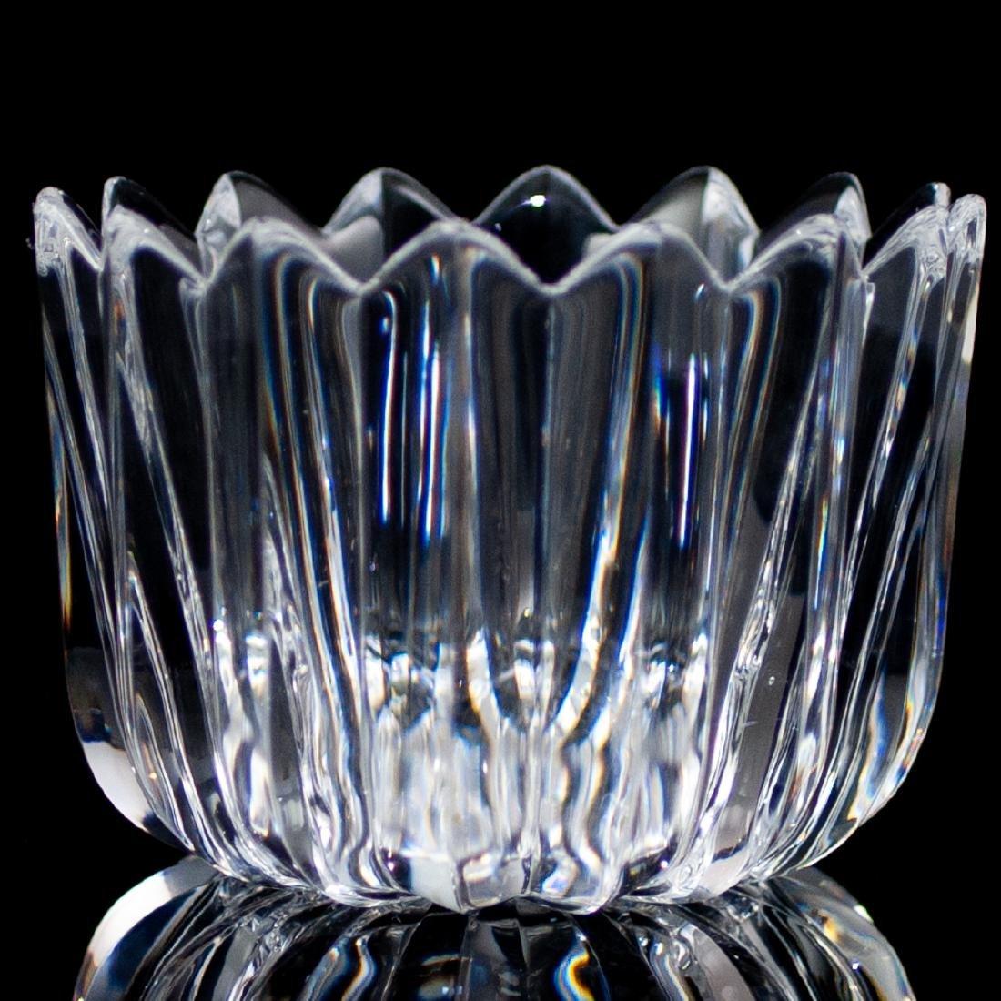 "(4 Pc) Orrefors Crystal ""Crown"" Bowls - 2"
