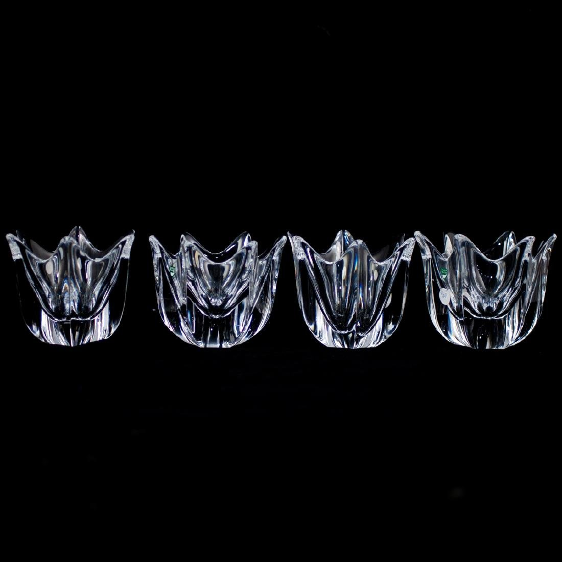 "(4 Pc) Orrefors Crystal ""Orion"" Bowls"