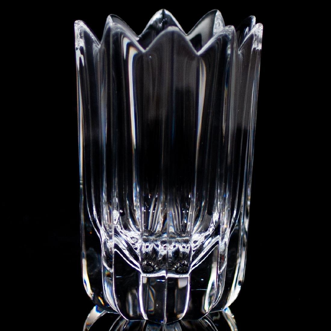 """(6 Pc) Orrefors Crystal """"Crown"""" Vases - 2"""